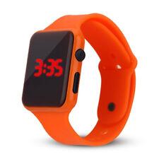 Fashion Unisex Digital LED Sports Watch Silicone Band Wrist Watches Men Children
