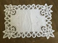 Vintage Lot of Madeira Embroidery White Cutwork 12 Placemats NICE!