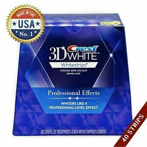 USA gemacht 1 Box 3D Whitestrips Weiss Professional (20 Beutel 40 Streifen)