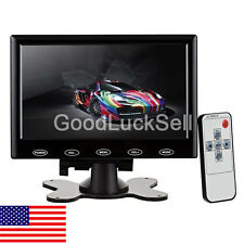 7 inch HD HDMI LCD Display Screen Monitor Black With VGA / HDMI / AV / Audio US
