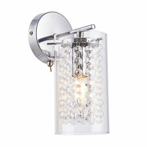 Designer Wall Fitting Stunning Bead Droplet Design Polished Chrome Toggle Switch