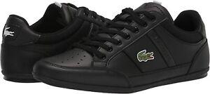 Men's Shoes Lacoste CHAYMON 0121 Leather Sneakers 42CMA0014312 BLACK / WHITE