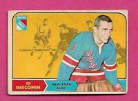1968-69 OPC # 67 RANGERS ED GIACOMIN GOALIE GOOD CARD  (INV# D6072)
