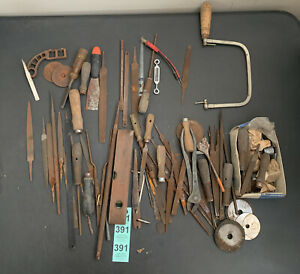 ANTIQUE Tool Lot MIXED VTG COLLECTIBLES Used Tools Woodworking Wood Carving
