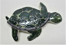 """Blue Sky Clayworks Sea Turtle Heather Goldminc Wall Hanging 7-1/2"""" by 5"""""""