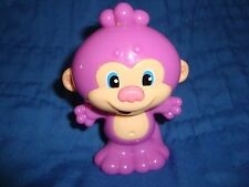 """Laugh and Learn Monkey Rattle Fisher Price 2013 Mattel 3.5"""" T PVC"""