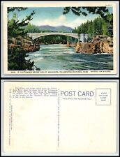 Yellowstone National Park Postcard - Chittenden Bridge & Mt. Washburn P18