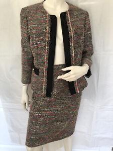 James Lakeland Boucle Skirt Suit Size 14