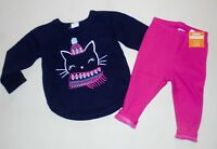 Gymboree Girls Kitty Cat Sweater Leggings 12-18 Months 2T 3T  NWT