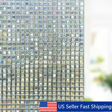 Static Cling Cover Window Glass Film Sticker Privacy Home Decoration   US