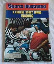 Sports Illustrated November 17, 1975 Violent Sport Turns Vicious Hockey