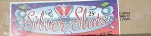 SILVER SLOTS 25 CENT PULL TAB INSTANT GAME TICKET COUNT 2400 PROFIT $318.00