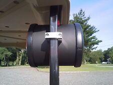 "Golf Cart Speaker Mounting Clamp 1"" Square Tube Bracket Stainless Hardware PAIR!"