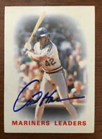 DAVE HENDERSON 1986 TOPPS AUTOGRAPHED SIGNED AUTO BASEBALL CARD 546 MARINERS