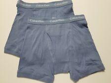Calvin Klein Boxer Briefs - Small - Blue - 2 Briefs