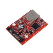 New SD SDHC MMC Card To SATA 7 15pin HDD Hard Disk Drive Converter Perfect