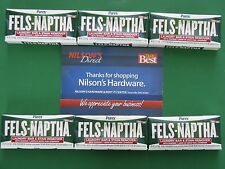 6pk Fels Naptha Laundry Soap Bar Poison Ivy Treatment Perspiration Stain Remover