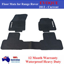 All Weather Rubber Floor Mats for Land Rover Range Rover Evoque 2012 - 2019