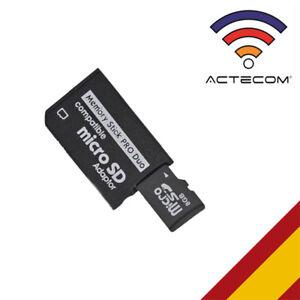 ACTECOM Adaptador Tarjeta Micro SD MicroSD a Memory Stick PRO DUO PSP SIMPLE