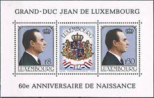 Luxemburg 1981 blok 13 60-ste verjaardag Groothertog Jan cat waarde € 2,50