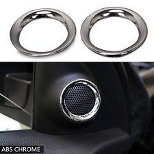 Chrome Plated Front Door Stereo Speaker Cover Trim Ring for Grand Cherokee 11-18