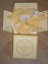 Peluche Doudou et Compagnie Ours bear orso teddy bergamote plat rond jaune neuf