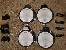 Roland 4 pack- (1) PD-80R & (3) PD-80 - W/ cables, clamps & L rods - mesh #AA103