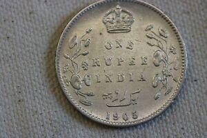 1905 C Brtitish India 1 Rupee, Brilliant White