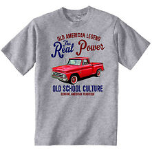 VINTAGE AMERICAN CAR Chevy Pick Up 10-Nuova T-shirt di cotone