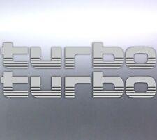 2x Silver TURBO Stickers Toyota Landcruiser 4WD 4x4 Sticker Australian 100 Serie