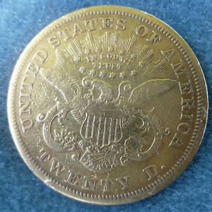 1870 S Double Eagle $20 Gold US Coin