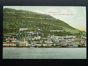 Gibraltar SOUTH FROM THE NEW MOLE - Old RP Postcard by V.B. Cumbo