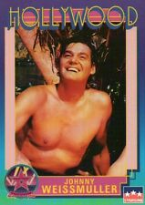 Johnny Weissmuller, Tarzan, Hollywood, Walk of Fame Trading Card -- NOT Postcard