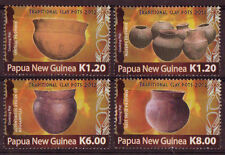 PAPUA NEW GUINEA 2012 CLAY POTS SET 4 UNMOUNTED MINT, MNH