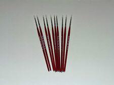 Modellng Fino Cepillo De Pintura Pinceles tamaño 0 Puro Sable Modelo Pack De 10