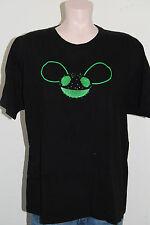 Deadmau5 concert t-shirt women large EDM black green dance music tee tour 2011