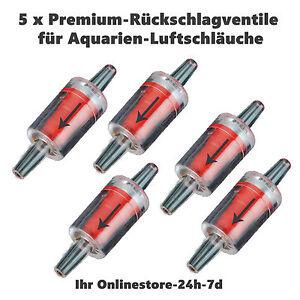 5x Aquarium Sicherheitsventil Rücklaufventil Rückschlagventil Check Valve 4/6mm