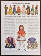 Betsy McCall Mag. Paper Doll, Betsy McCall at the Unicefair, Oct. 1971