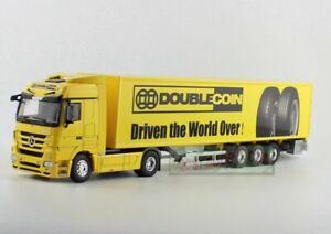 1/50 Mercedes-Benz DOUBLECOIN Tractor Trailer Metal Truck DieCast