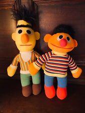 Vintage Bert And Ernie Stuffed Dolls 1984 1985 Sesame Street Playskool Hasbro