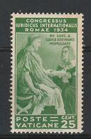 FRANCOBOLLI - 1935 VATICANO C.25 GIURIDICO MNH E/1895
