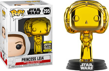 Funko Pop! Gold Chrome Princess Leia #295 Star Wars 2019 Galactic Convention