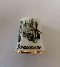 Dé à coudre de collection PROVENCE. Branche d Olivier Olives   A9