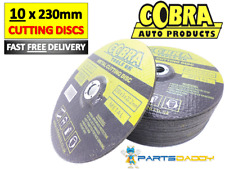 "10 x COBRA METAL CUTTING SLITTING DISCS 230MM / 9"" INCH DISC FOR ANGLE GRINDER"