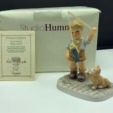 Goebel Mj Hummel club figurine germany box coa Bh153 What a catch fishing pole