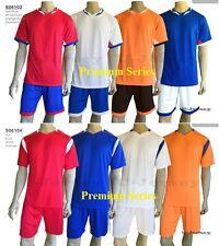 *Sample Premium Soccer Jersey&Shorts Blue/Red/White/Orange *Free Print* S06102/4