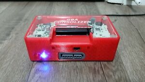 GBA Consolizer Red Woozle HDMI Gameboy Advance GBA HDMI Console Refurbished