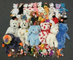~~54 TY BEANIE BABIES, TEENIES, & BUDDIES COLLECTION LOT - WHOLESALE BULK