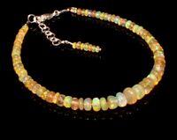 """Ethiopian Fire Opal Bracelet Sterling Silver Jewelry 6.5"""" 7.5"""" Christmas Gift 38"""