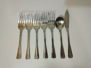 Cambridge BRITTANY Stainless Steel Flatware 7 Pc Salad Fork Sugar Spoon Knife